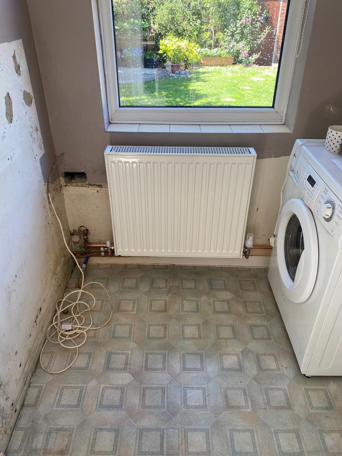 Functional radiator fit in laundry room, emergency plumber