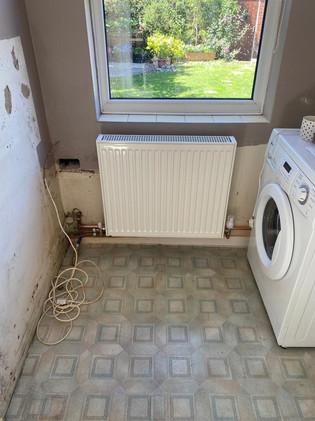 Functional radiator fit in laundry room, emergency plumber