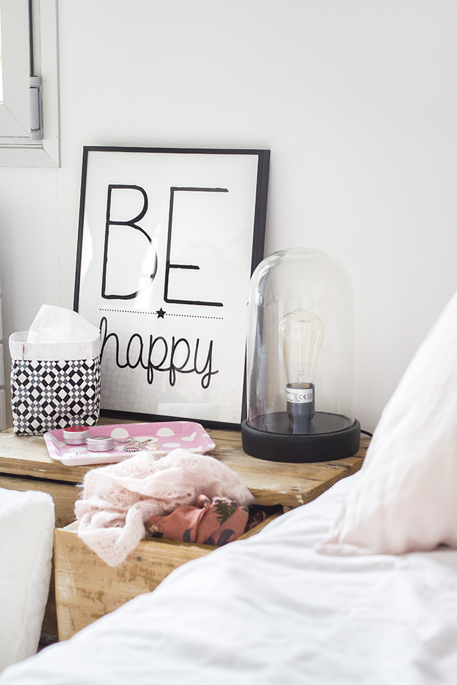 Be happy Slogan Hygge