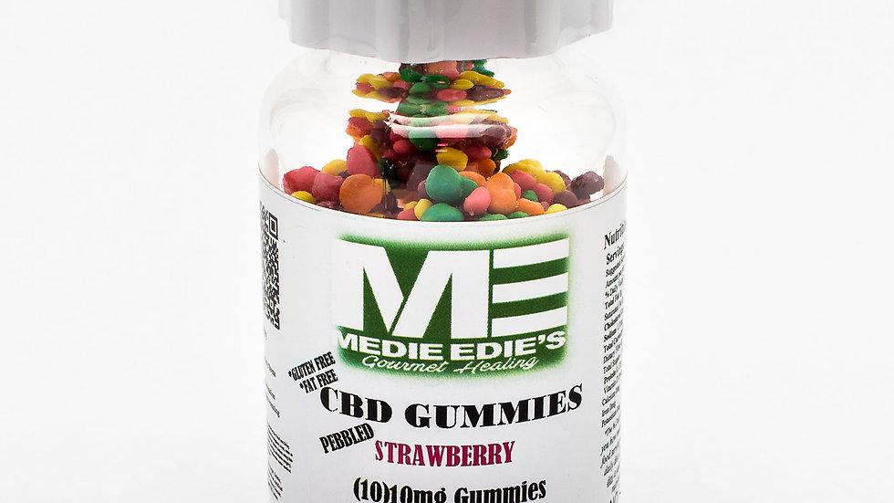Medie Edie's - Pebbled Strawberry CBD Gummies - 10ct/10mg/100mg