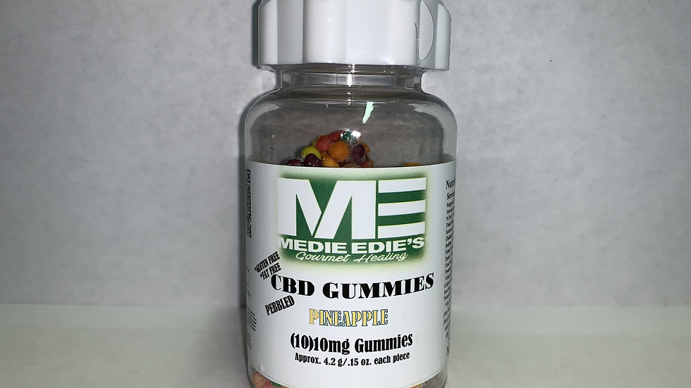 Medie Edie's - Pebbled Pineapple CBD Gummies - 10ct/10mg/100mg