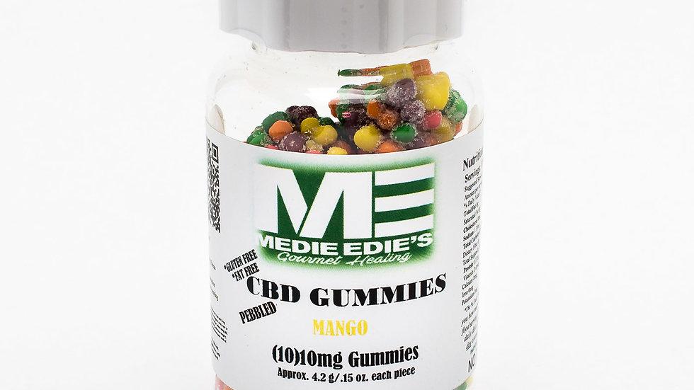 Medie Edie's - Pebbled Mango CBD Gummies - 10ct/10mg/100mg