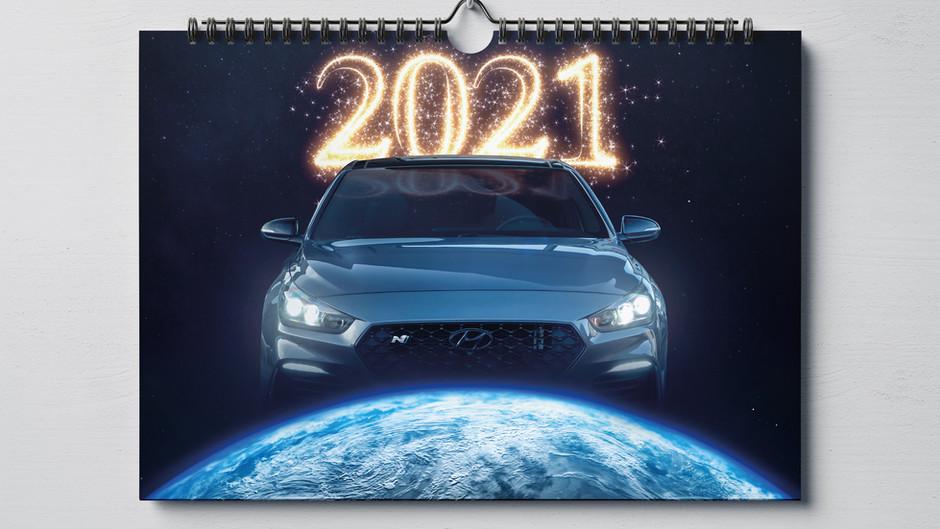 Hyundai i30N Kalender 2021 - für ein besseres Jahr 2021!