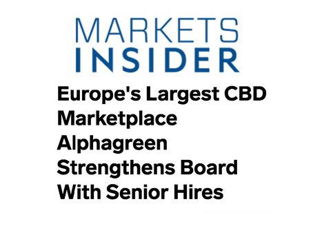 Europe's Largest CBD Marketplace Alphagreen Strengthens Board With Senior Hires