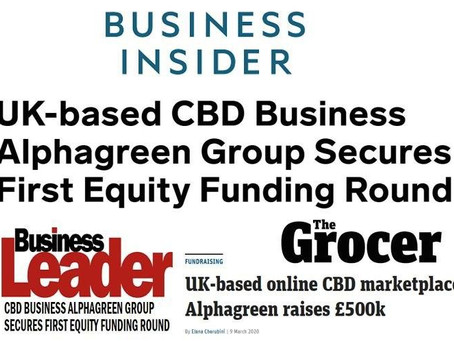 UK-based CBD Business Alphagreen Group Secures First Equity Funding Round