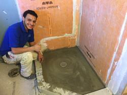 McLean Bath Remodel 6- waterproofed shower pan
