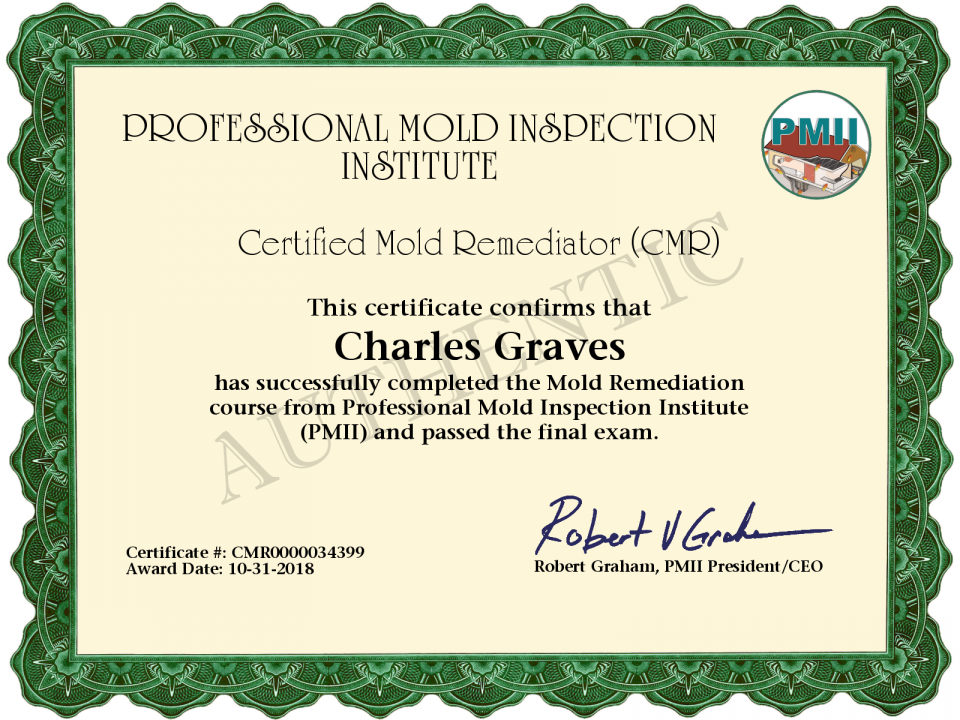 Mold Remediator Certification