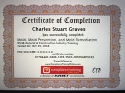 Mold Remediation Certification #2