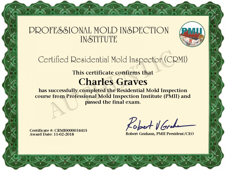 Mold Inspector Certification