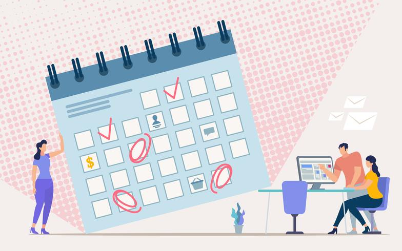 vector-planning-office-work-schedule