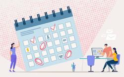 vector-planning-office-work-schedule