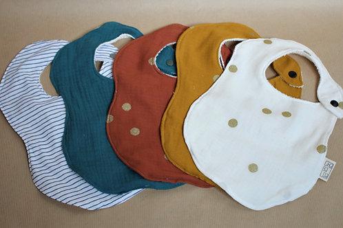Bavoir, enfants, bébés, tissu oeko tex, artisanat, couture fait-main, tissu éponge bambou, chabada