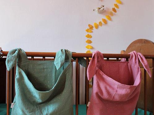range doudou, collection enfant, cadeau naissance, tissu double gaze, tissu oeko tex, chabada