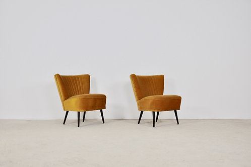 Mid-Century Cocktail Chairs, 1960s, Set of 2