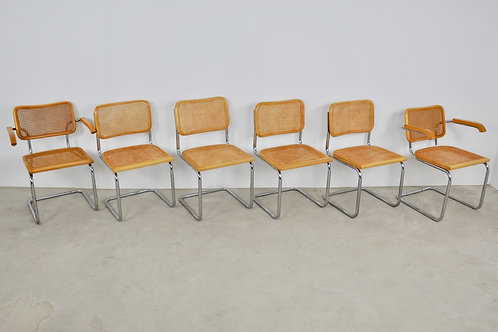 Dinning Style Chairs B32 By Marcel Breuer 1980S