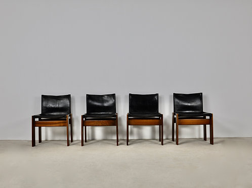 Monk Dinning Chairs by Afra&Tobia Scarpa for Molteni, 1970S
