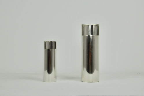 Pair of silver vase 1980S