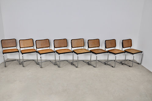 Knoll International Dinning chairs by Marcel Breuer 1980S Set8
