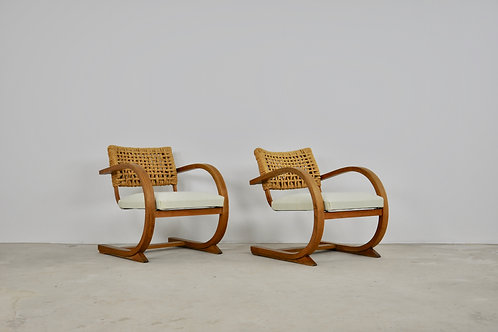 Lounge chair by Audoux Minet, 1940s