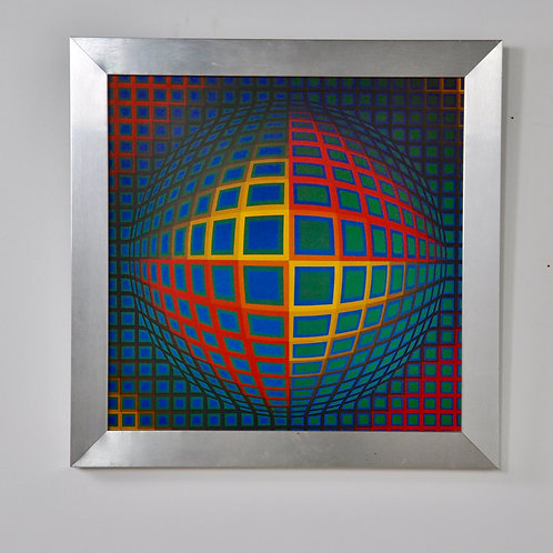 Vasarely Painting, 1980s