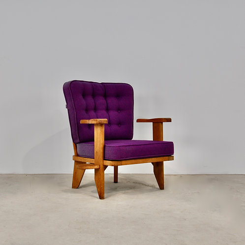 Armchairs by Guillerme et Chambron, 1950s