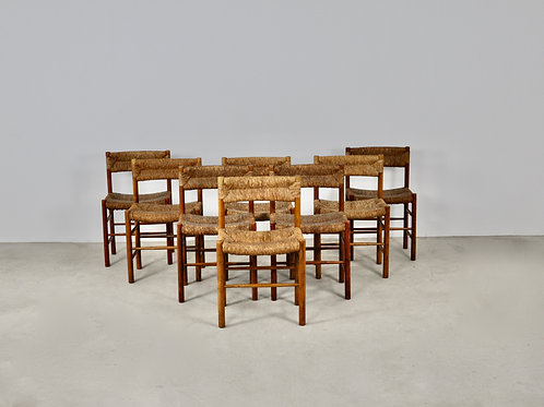 Chairs by Charlotte Perriand &Dordogne for Sentou, 1950s Set 8
