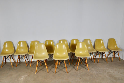 Chairs DSW by Charles & Ray Eames for Herman Miller, 1970s, Set of 6