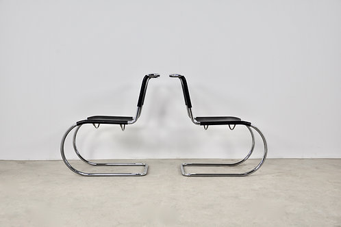 Bauhaus Chrome MR 10 Chair by Ludwig Mies van der Rohe for Thonet