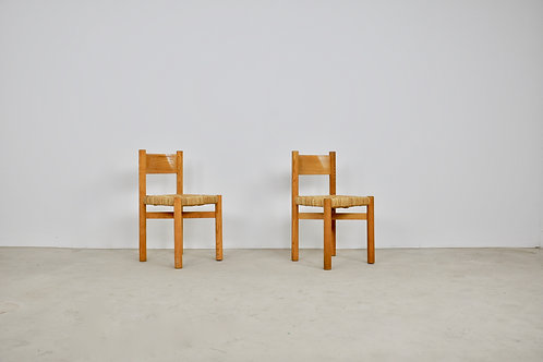 Meribel Chairs by Charlotte Perriand, 1950s, Set of 2