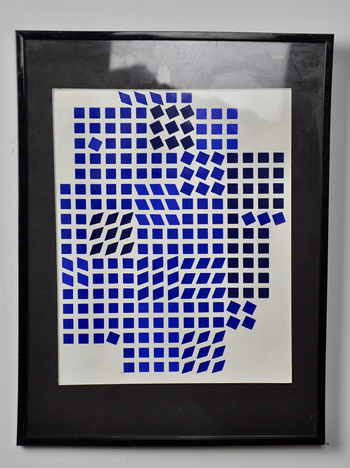 Painting by Vasarely, 1956