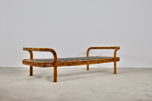Rattan and Bamboo Single Bed 1960S