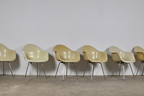 DAX Dining Chairs by Charles and Ray Eames for Herman Miller 1960S