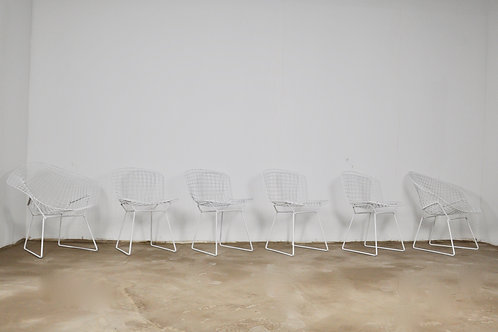 Metal Side Chairs by Harry Bertoia  for Knoll, 1970s, Set of 6