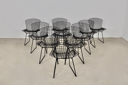 420 Classic Chairs by Harry Bertoia for Knoll Set 10