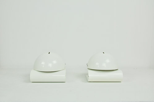 White Bugia Table Lamps by Giuseppe Cormio for Guzzini, 1970S