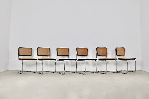 Black Dinning Style Chairs B32 By Marcel Breuer set6