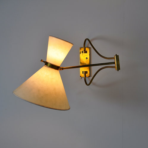 French Wall Lamp 1960S