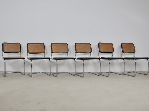 Black Dinning Style Chairs B32 By Marcel Breuer 1980S
