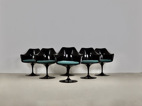 Black Eero Saarinen Armchair for Knoll International, 1960s Set 6