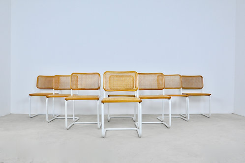 Dinning Style Chairs B32 By Marcel Breuer set 8