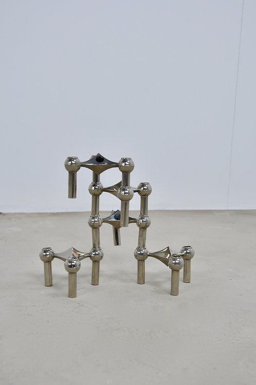 Stackable Nickel Candleholder by Fritz Nagel and Ceasar Stoffi for BMF/Nagel