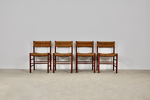 Chairs by Charlotte Perriand & Dordogne for Sentou, 1950s