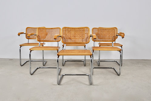 Dinning Style Armchairs B64 By Marcel Breuer set6