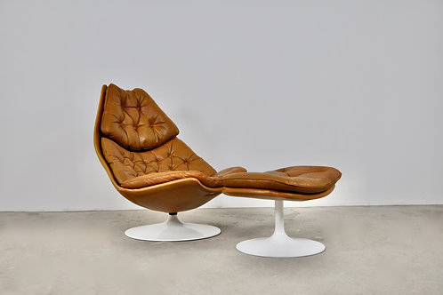 F510 Chair and Ottoman, Geoffrey Harcourt for Artifort 1960S