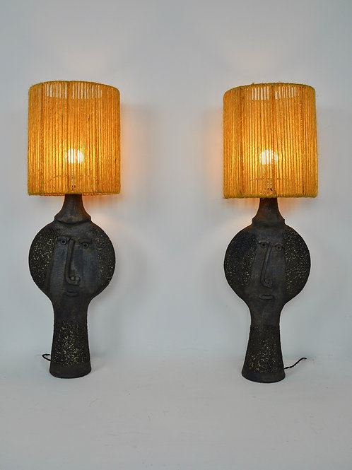 Pair Table Lamp by Dominique Pouchain set 2