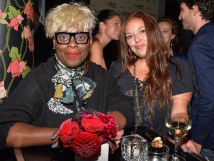 Photo of Lauren Avinoam (WIP Chair of Festivals) with Maxine Bailey