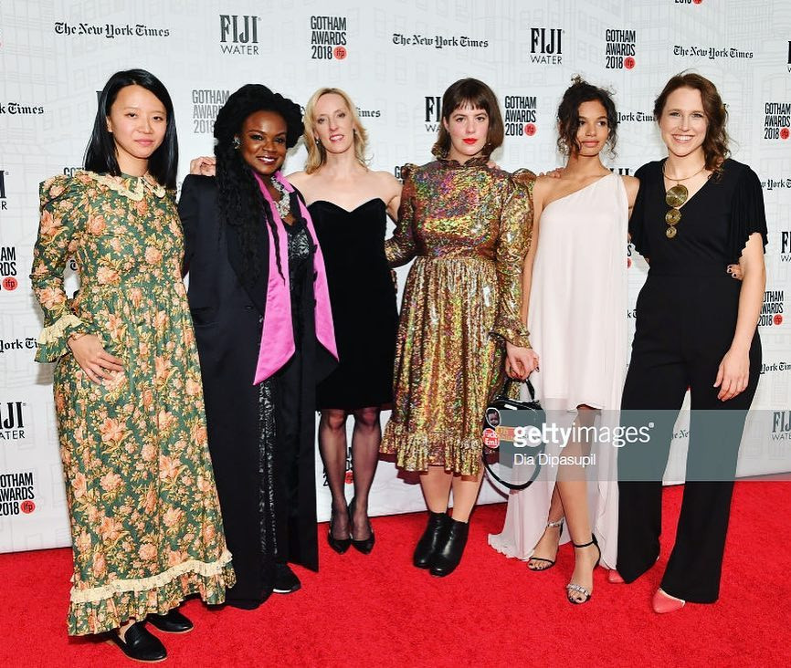The Madeline's Madeline team on the red carpet at the Gotham Awards.