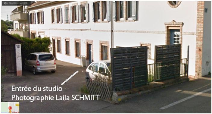 Entrée du studio Photographie Laila SCHMITT