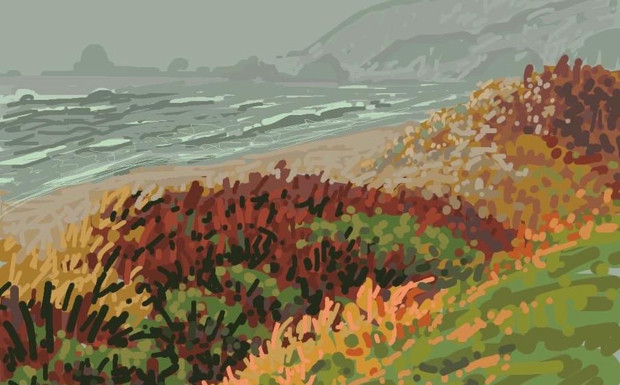 Cannon Beach Fog by Jakki Kouffman