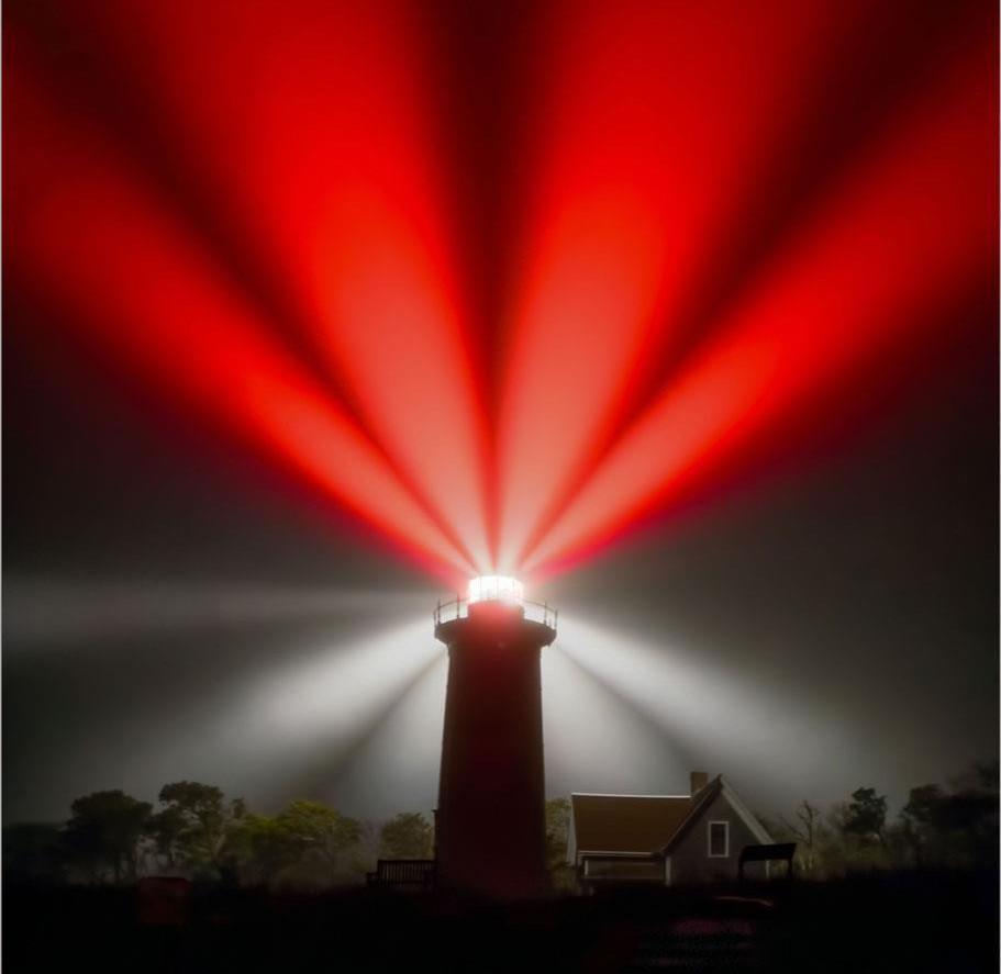 Nauset Light in the Fog by John Straub